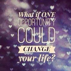 What if one opportunity could change your life?   PureRomance.com/BethTemple