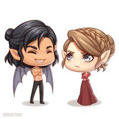 eresteblr: Cassian and Nesta