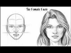 RESİM DERSİ  ( Kadın Yüzü Çizme )
