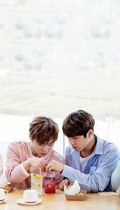 Wanna One x Innisfree: Wanna One Go in Jeju Park Jihoon and Park Woojin Wallpaper You Are My Life, Day Of My Life, Cry A River, Miss U So Much, All About Kpop, First Love, My Love, Kim Jaehwan, Ha Sungwoon