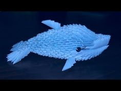 3D origami dolphin tutorial (instruction) - YouTube