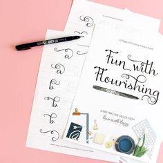 10 Free Hand Lettering Practice Worksheets. Get your hand lettering practice on with these ten fun (and free!) practice worksheets!