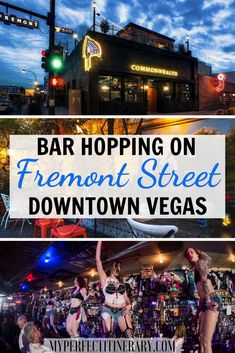 This local's guide shares the BEST bars in Downtown Las Vegas. Fremont Street area is filled with trendy and unique bars with your name on it! Us Travel Destinations, Birthday In Las Vegas, Birthday Bash, Las Vegas Trip, Vegas Vacation, Italy Vacation, Las Vegas Bars, Vacation Spots, Fremont Street