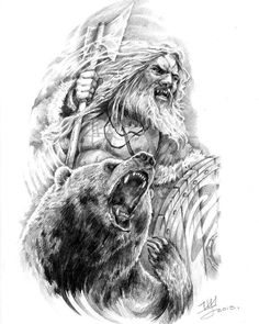 "608 curtidas, 2 comentários - Могучий Север и Викинги (@mjollnirtor) no Instagram: ""#odin #viking #thor #asatru #vikings #pagan #tattoos #art #warrior #paganism #axe #beardwarriors…"""