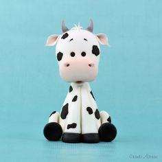 Cute Cow fondant / polymer clay tutorial