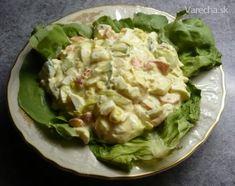 Vajíčkový šalát Czech Recipes, Russian Recipes, Ethnic Recipes, Salad Recipes, Snack Recipes, Snacks, Guacamole, Potato Salad, Cabbage