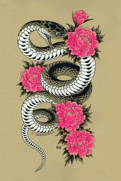 snake oriental tattoo - Google Search