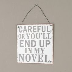 My Novel Humour Metal Hanging Sign Plaque H18 x W18cm Dibor - French Style Accessories for the Home http://www.amazon.co.uk/dp/B00HZL957G/ref=cm_sw_r_pi_dp_YQjrvb0W785EC
