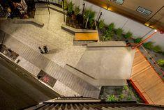 The Dogpatch Ropewalk | San Francisco, CA, USA | Fletcher Studio #landscapearchitecture #design #boardwalk #timber #Dogpatch #public #space #plaza #aerial #drone