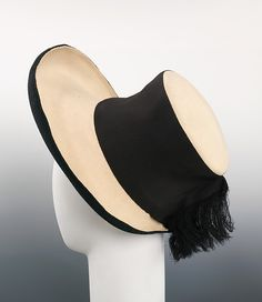 Sally Victor   Hat   American   The Met ca. 1940 wool, silk Dimensions:5 1/2 x 13 in. (14 x 33 cm)