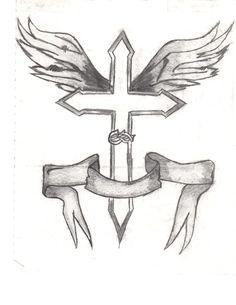 drawings sharpie cross drawing easy pencil cartoon animal sketches jesus crosses