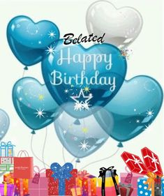 Belated Happy Birthday via GIPHY Belated, birthday, balloons, gifts, sparkles Disney Happy Birthday Images, Happy Birthday Sister Cards, Belated Happy Birthday Wishes, Happy Birthday Mike, Happy Birthday Bouquet, Birthday Wishes Flowers, Happy Birthday Frame, Happy Anniversary Wishes, Birthday Wishes And Images