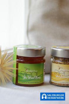 Salzburger Heimatwerk. Bio-Honig aus dem Mondseeland Candle Jars, Schnapps