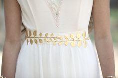 Ceinture ceinture à la taille Large feuille dor par avigailadam