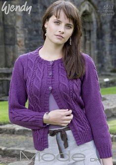 Double Cabled Cardi A389 in Wendy Mode DK 5517. Discover more Patterns by Wendy at LoveKnitting. The world's largest range of knitting supplies - we stock patterns, yarn, needles and books from all of your favorite brands.