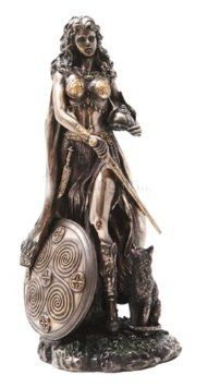 Amazon.com: Freyja (Freya) Norse Goddess of Love, Beauty and Fertility, Real Bronze Powder Cast Statue, 10 1/2-inch: Home & Kitchen