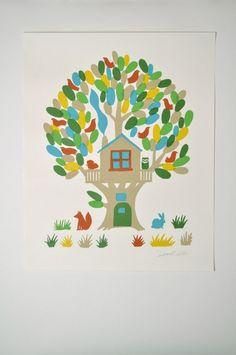 Sukie Tree House Silk Screen Print