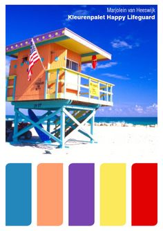 "Color palette ""Happy Lifeguard"""