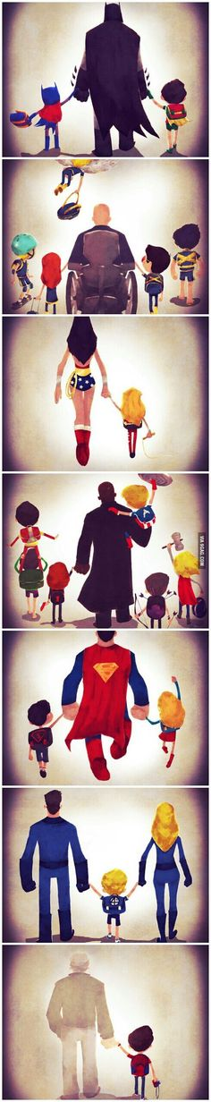 Super hero family time: