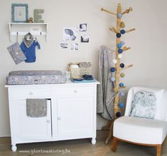 Unisex babykamer in wit en beige, met de collectie ping ping pepper van Glorious Lou * baby chic.