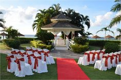 This picturesque gazebo at Sunscape Splash Montego Bay is the perfect backdrop for your dream destination wedding. Destination Wedding Inspiration, Destination Weddings, Wedding Ideas, All Inclusive Family Resorts, Beach Resorts, Jamaica Travel, Montego Bay, Resort Spa, Gazebo