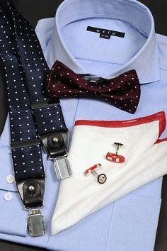 普段仕様でもメジャーになった蝶ネクタイをポイントにオックスフォードシャツでトラッドに