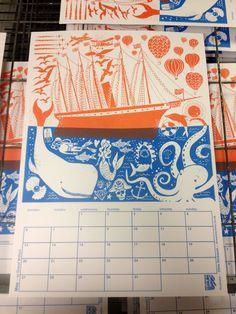 Chris Dickason ++ screenprinted calendar ++ Illustration Age