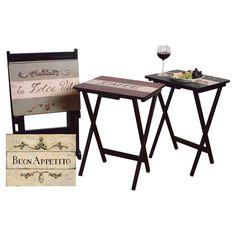 5-Piece Cucina Folding Table Set