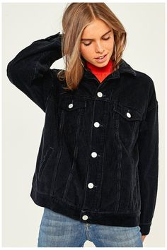 BDG Western Black Corduroy Jacket | Urban Outfitters | Women's | Jackets | New #uoeurope #urbanoutfitterseu