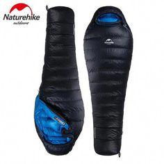 b669660b3b7 NatureHike Adult Winter Sleeping Bag Mummy Type Down Sleeping Bag Splicing  Single Sleeping Bag Camping Equipment