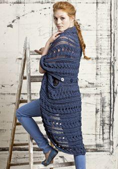 Neulottu liivi, SK 4/2014. Parisian, Fashion Backpack, Knit Crochet, Knitting, Sweaters, Dresses, Gowns, Tricot, Parisians
