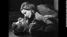 """This McBean photo of Leigh and Olivier promoted their 1951 performances in Shakespeare's """"Anthony and Cleopatra"""" at London's St. James Theat..."""