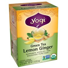 Refresh your well-being with this blend of tangy lemon, antioxidant green tea, and warming ginger.*
