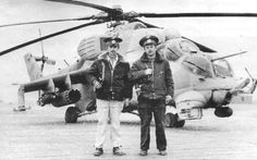 Helicopter pilots , flight engineer 181st AFP Manzhosov and Sholokhov from the 3rd Squadron of the regiment. On the Mi-2...