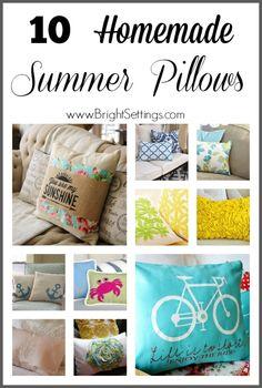 10 Homemade Summer Pillows