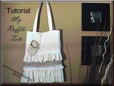 DIY Handbag: DIY Ruffle Tote
