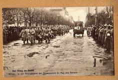 Wilna Postkarte I.Weltkrieg Georgenstraße mit Soldaten schöne Straßen Ansicht