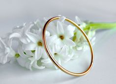 Roman Bangle - rose gold. 18K rose gold, 3mm, 6.9 grams. Just let the light do the work while you pose, pose, pose!