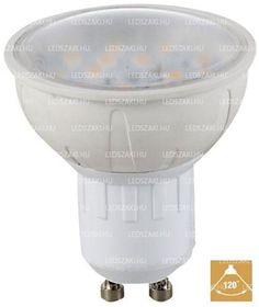 LEDszaki - GU10 led spot égő, dimmelhető AC90-265V, 5W fogyasztással, 420 Lumen fényerő, melegfehér színnel, 120° világítási szöggel, 2 év garanciával a LEDszakitól!
