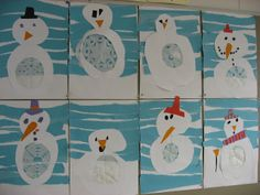 Winter Fun, Winter Theme, Art Projects, Projects To Try, Crafts For Kids, Arts And Crafts, Claude Monet, Snowman, Inspiration