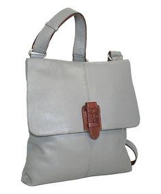 bfd640253973 Stone Casanova Leather Crossbody Bag  zulilyfinds Leather Crossbody Bag