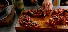 Kraft Parmesan Bruschetta with Mushroom Ragu - Kraft Recipes Appetizer Recipes, Appetizers, Kraft Recipes, Grilling Recipes, Bruschetta, Quick Easy Meals, Parmesan, Waffles, Dips