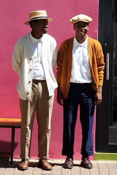 Kabelo and Wanda Ivy League Style, Men's Wardrobe, Gentleman Style, Mode Style, Look Cool, Hats For Men, Men Dress, Personal Style, Cool Outfits