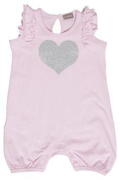 Claire vauvojen kesäasu sydämellä, vaaleanpunainen -30%