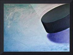 """Hockey Puck"" by Steve Kiene Hockey Drills, Hockey Goalie, Field Hockey, Hockey Players, Ice Hockey, Hockey Outfits, Hockey Cakes, Hockey Girlfriend, Buy Prints"