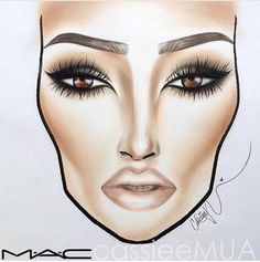 """Find and save images from the """"makeup face charts"""" collection by Ramina on We Heart It, your everyday app to get lost in what you love. Makeup Goals, Makeup Inspo, Makeup Inspiration, Makeup Tips, Beauty Makeup, Drugstore Beauty, Face Chart Mac, Makeup Illustration, Makeup Face Charts"""