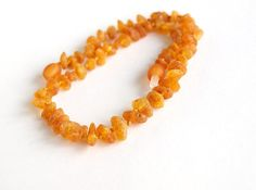 Raw Baltic amber baby teething necklace. Honey color amber beads $12.99 USD