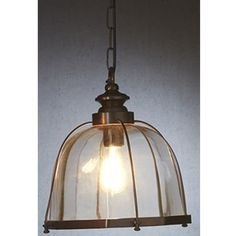 This simple and timeless pendant light is inspired by the style of the earliest, turn of the century electrical fittings. Featuring a brass frame finished in an Cage Pendant Light, Kitchen Pendant Lighting, Modern Pendant Light, Pendant Lights, Ceiling Lamp, Ceiling Lights, Glass Cages, Electrical Fittings, Light Fittings
