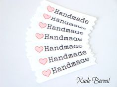 20 Twill Fabric Labels 1/2 twill ribbon by XadeBorealSupplies, $6.00