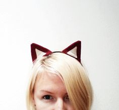 Red Fox Ears Headband, Halloween Costume or Dress Up Fox Ears for all ages